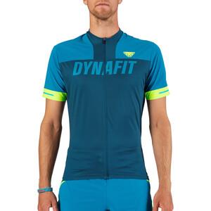 Dynafit Ride Full-Zip Kurzarmshirt Herren mykonos blue mykonos blue