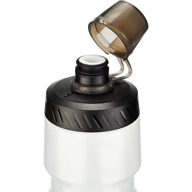 BBB AutoTank Mudcap Autoclose XL Bidon 750ml, transparent/gris