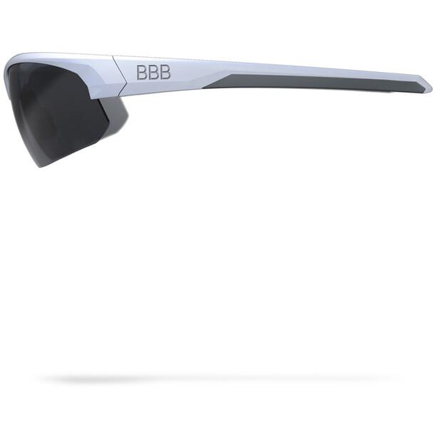 BBB Impress Sportbrille matt white/smoke