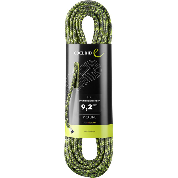 Edelrid Hummingbird Pro Dry Rope 9,2mm x 60m night citrus