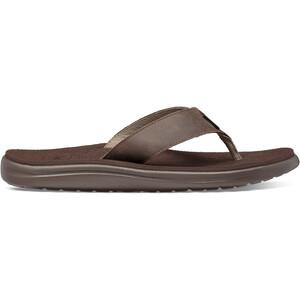 Teva Voya Flip Leather Sandals Men brun brun