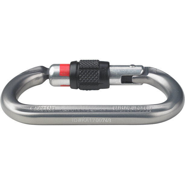 AustriAlpin Ovalo GI Screwgate Carabiner anthracite anodised