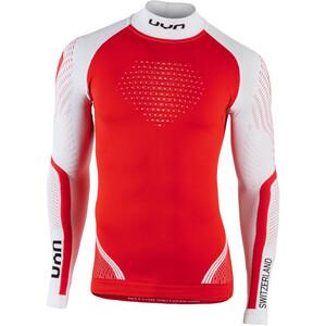 UYN Natyon Switzerland UW Camiseta Manga Larga Cuello Tortuga, rojo/blanco rojo/blanco