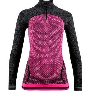 UYN Running Alpha OW Zip-Up Langarmshirt Damen racy pink/charcoal racy pink/charcoal