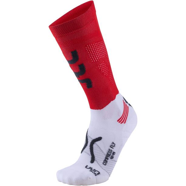 UYN Run Compression Fly Socken Herren red/anthracite