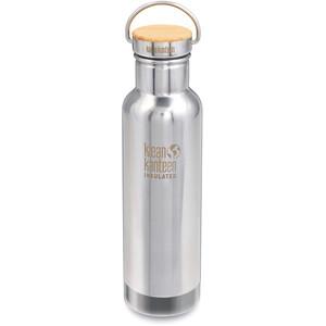 Klean Kanteen Reflect Vacuum Insulated Flasche Bambusverschluss 592ml silber silber