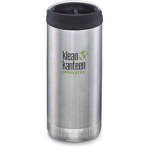 Klean Kanteen TKWide Flasche mit Cafe Cap 355ml Vakuumisoliert brushed stainless brushed stainless