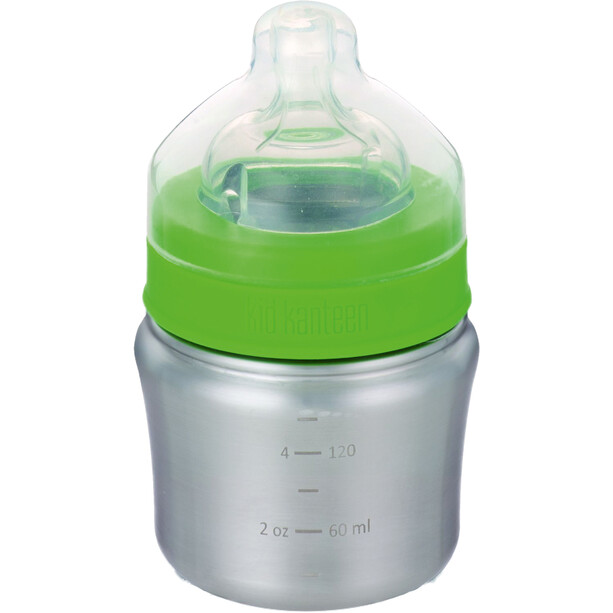Klean Kanteen Babyflasche 148ml Langsamer Trinkfluss silber/grün