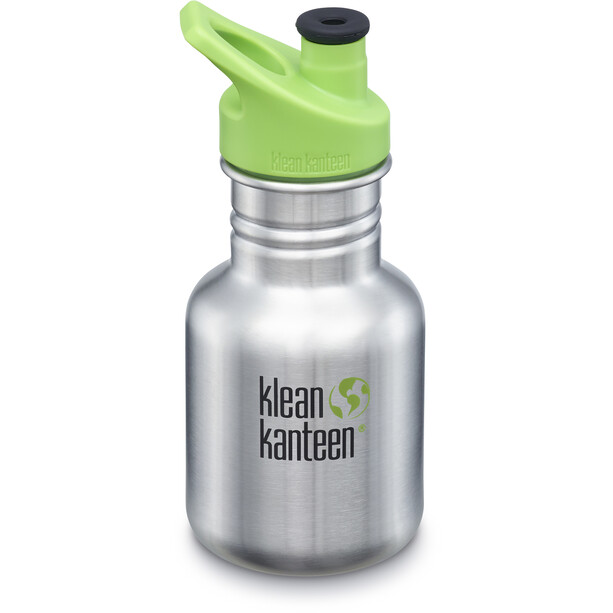 Klean Kanteen Classic Gourde 355ml avec couvercle Sport 3.0 Enfant, brushed stainless