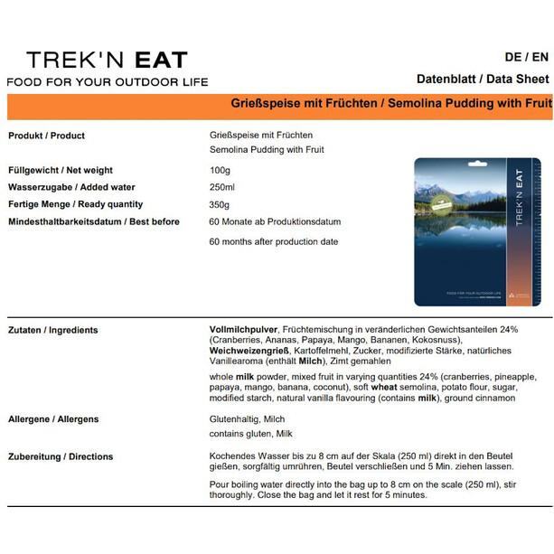Trek'n Eat Outdoor Nachspeise 100g Grießbrei mit Früchten
