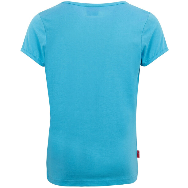 TROLLKIDS Logo T-Shirt Mädchen blau