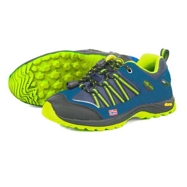 TROLLKIDS Lofoten Hiker Low-Cut Schuhe Kinder blau/gelb