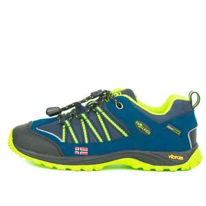 TROLLKIDS Lofoten Hiker Chaussures à tige basse Enfant, bleu/jaune bleu/jaune