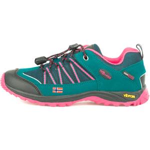 TROLLKIDS Lofoten Hiker Lage Schoenen Kinderen, groen/roze groen/roze