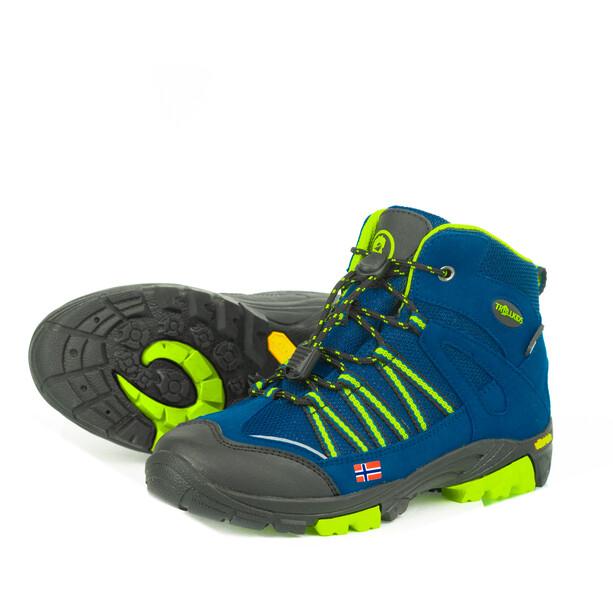 TROLLKIDS Lofoten Hiker Mid-Cut Schuhe Kinder blau/gelb
