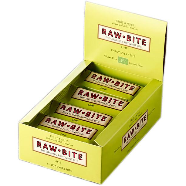 RAWBITE Riegel Box 12x50g Limette