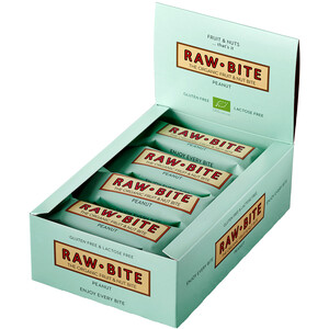 RAWBITE Riegel Box 12x50g Erdnuss