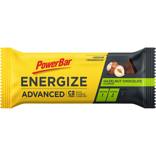 PowerBar Energize Advanced Riegel Box 25x55g Orange
