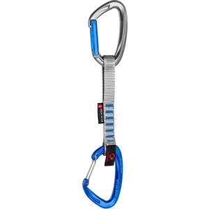 Mammut Crag Indicator Wire Quickdraw Straight Gate/Bent Gate 15cm silver/ultramarine silver/ultramarine