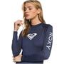 Roxy Whole Hearted Langarm-Rashguard Damen blau