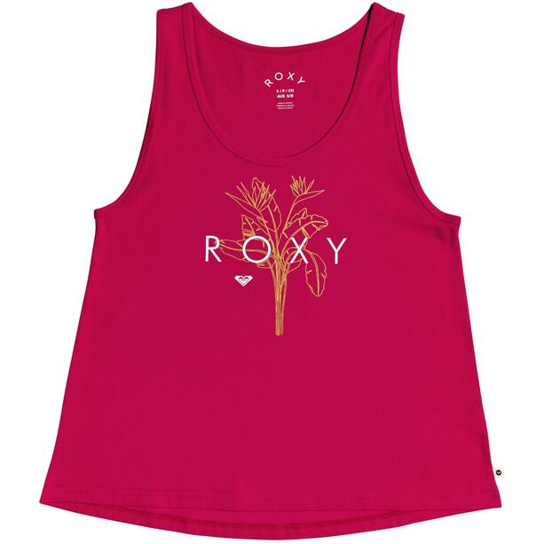 Roxy Closing Party Logo Tank Top Women, cerise