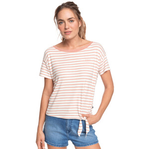Roxy Wake Up With The Sun T-Shirt Damen cafe creme zoupla horizontal cafe creme zoupla horizontal