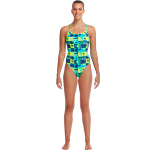 Funkita Diamond Back One Piece Badeanzug Damen pop tropo pop tropo