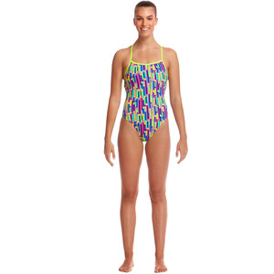 Funkita Strapped In One Piece Badeanzug Damen mixed signals mixed signals