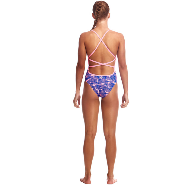 Funkita Strapped In One Piece Swimsuit Girls bar bara
