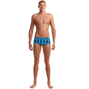 Funky Trunks Eco Plain Front Trunks Men, sininen/musta sininen/musta