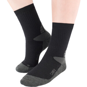 CAMPZ Merino Expedition Socken black/grey black/grey