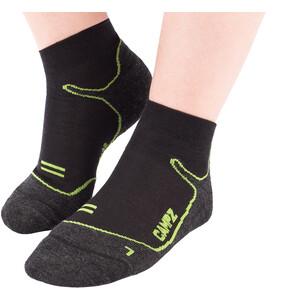 CAMPZ Merino Sneaker Socken black/green black/green