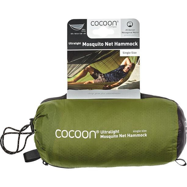 Cocoon Ultralight Hängematten Moskitonetz Single Size schwarz