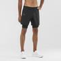 Salomon Agile Twinskin Shorts Men, musta