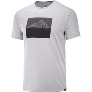 Salomon Agile Graphic Kurzarm T-Shirt Herren alloy/heather alloy/heather