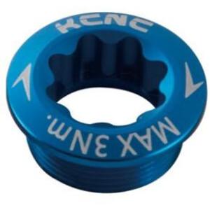 KCNC Kurbelschraube für Shimano Kurbel Arm Links blau blau