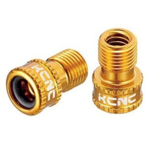 KCNC Ventil Adapter Presta zu Schrader gold