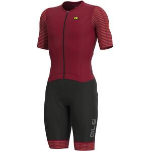 Alé Cycling R-EV1 Fuga Kortärmad Unitard Herr röd/svart röd/svart