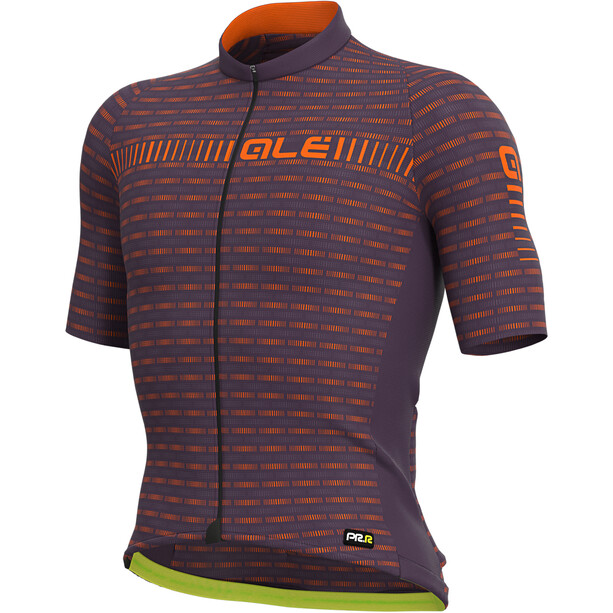 Alé Cycling Graphics PRR Green Road Kurzarm Trikot Herren plum/fluo orange