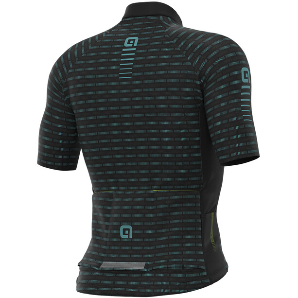 Alé Cycling Graphics PRR Green Road Kurzarm Trikot Herren black/turquoise