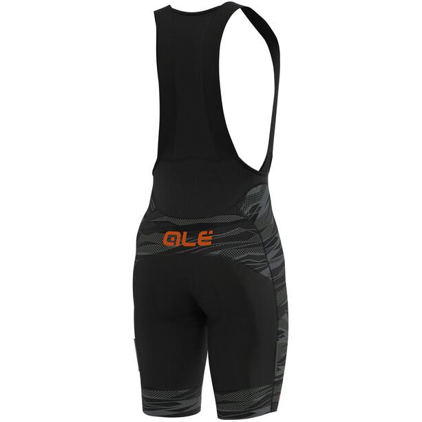 Alé Cycling Graphics PRR Rock Trägershorts Herren black/fluo orange