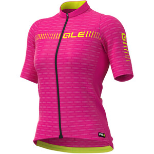 Alé Cycling Graphics PRR Green Road SS Jersey Women cyclamen/fluo yellow cyclamen/fluo yellow