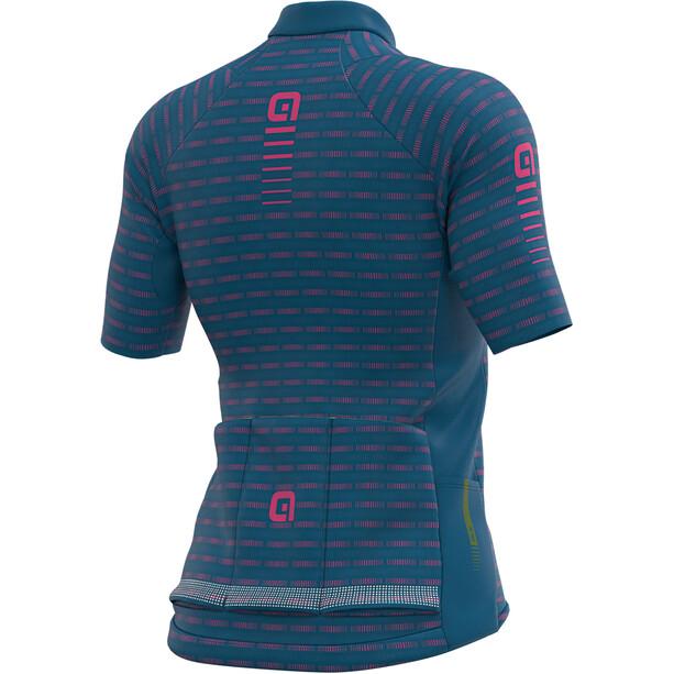 Alé Cycling Graphics PRR Green Road SS Jersey Women azure blue/fluo pink