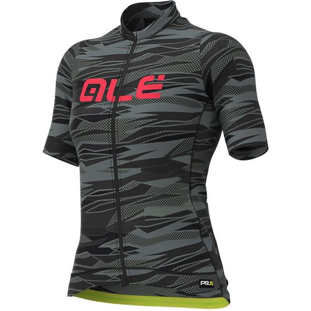 Alé Cycling Graphics PRR Rock Kurzarm Trikot Damen black/gerbera