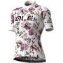 Alé Cycling Graphics PRR Fiori Kurzarm Trikot Damen white