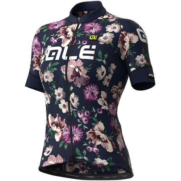 Alé Cycling Graphics PRR Fiori Kurzarm Trikot Damen blue