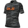 Alé Cycling Rock Kurzarm Trikot Kinder black/fluo orange