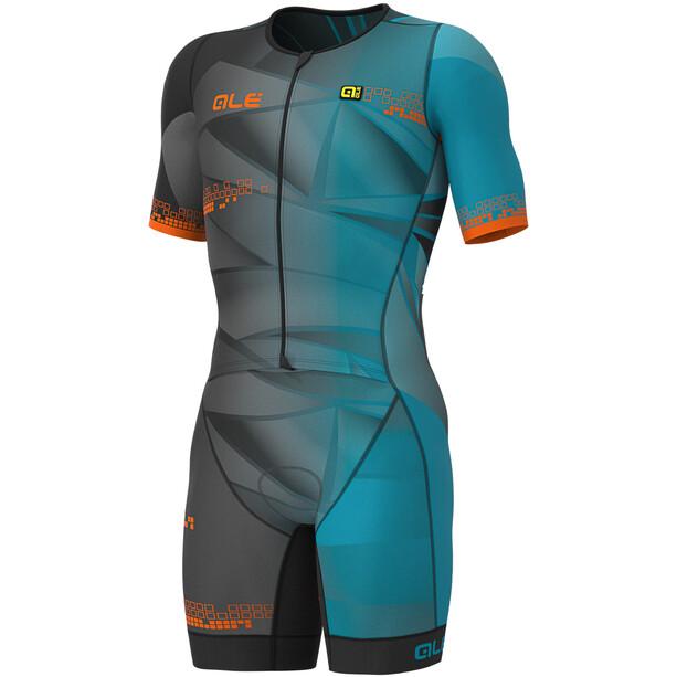 Alé Cycling Triathlon Hawaii Kurzärmliges Ganzkörpertrikot Herren ottanio blue