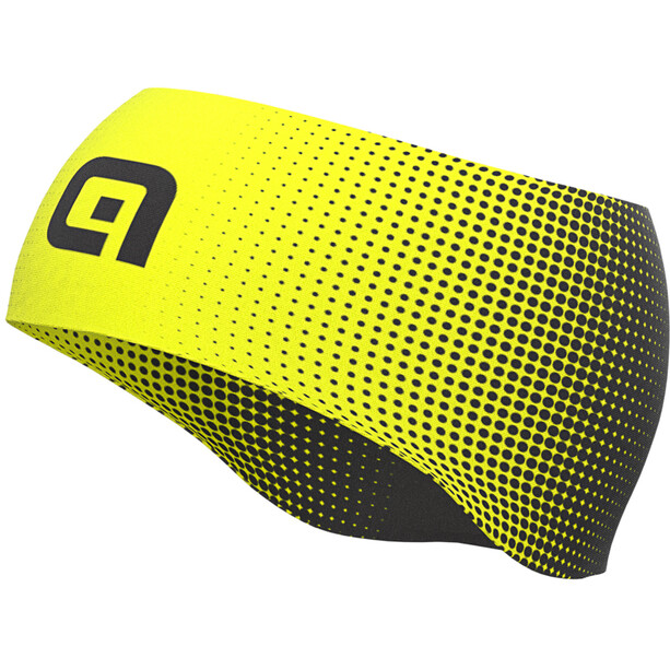 Alé Cycling Dots Summer Stirnband Herren black/fluo yellow