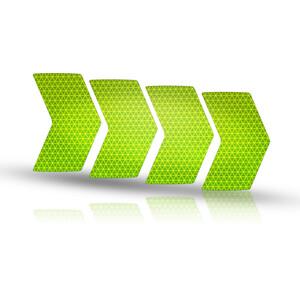 Riesel Design re:flex rim Reflekterende klistermærker, grøn grøn